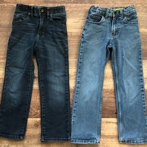 Boy's Size 7 Slim Lee Jeans•Two Pairs
